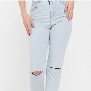 new • asos slim fit high waisted mom jeans